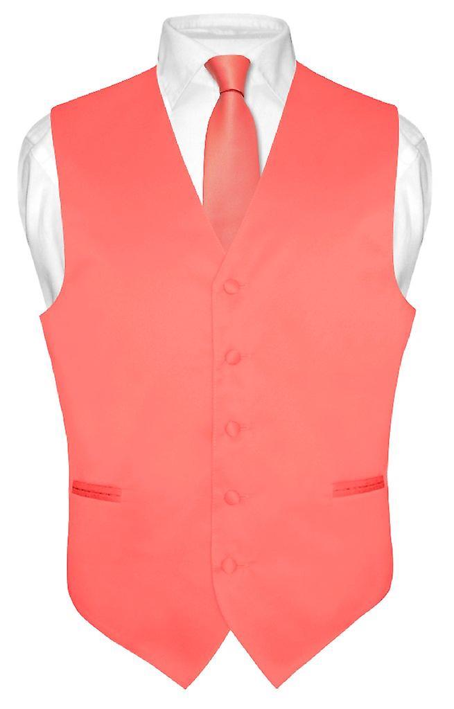 Robe Vest & cravate solide cou cravate ensemble hommes pour costume ou Tux