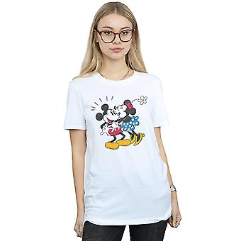 Disney Micky Maus Mickey und Minnie Kiss Freund Fit T-Shirt