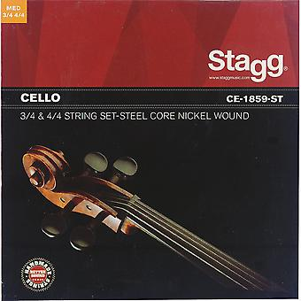 Stagg Cello String Set - Stahl