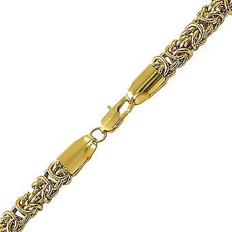 Iskallt ut BYSANTINSKA armband i rostfritt stål - 6mm guld