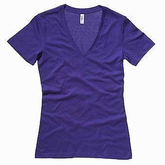 Bella Canvas Ladies Jersey Deep V-Neck T-Shirt