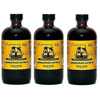 Sunny Isle Jamaican Black Castor Oil Regular 4oz. (118ml) (3-Pack)