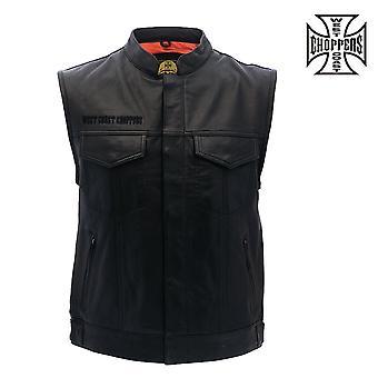 West Coast choppers vest OG cross leather riding vest