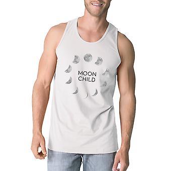 Månen barn Herre hvid Workout tanke Funny Halloween Tank Top gaver