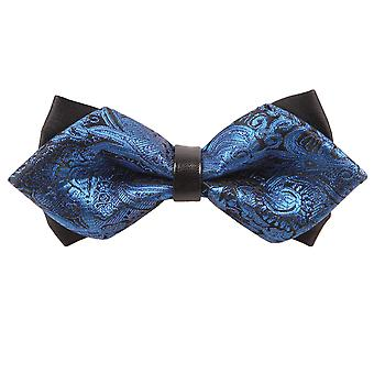 Paisley bleu Diamond Tip noeud papillon