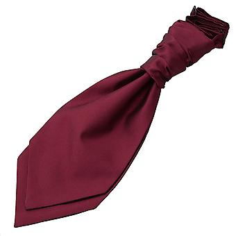 Burgundy Solid Check Pre-Tied Wedding Cravat for Boys