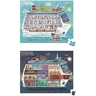 Janod Hat Boxed 2 pussel kryssningsfartyg