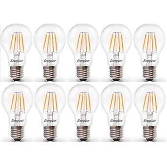 10 claro de X Energizer LED filamento GLS luz bombilla lámpara Vintage ES E27 4.5W = 40W casquillo ES E27 [clase energética A +]