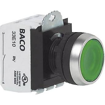 BACO L21AA02M Pushbutton Front ring (steel), chrome-plated Green 1 pc(s)