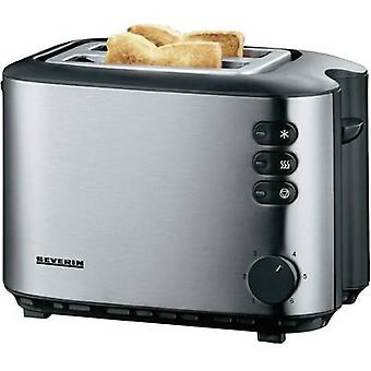 Severin AT 2514 Toaster with built-in home baking attachment Stainless steel (brushed), Black