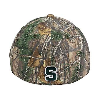 Michigan State Spartans NCAA TOW Real Tree Camo Stretch Fitted Hat