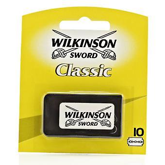 Wilkinson sverd klassiske dobbel kant (DE) Razorblades - pakke med 10s