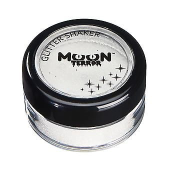 Moon Terror - Halloween Glitter Shaker makeup for the Face & Body - 5g - Easily add sparkles to your horror looks like a pro! Perfect for vampire, ghost, skeleton, witch, pumpkin, monster etc - Wicked White