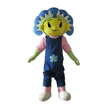 mascot giant, blue, yellow and green flower SPOTSOUND