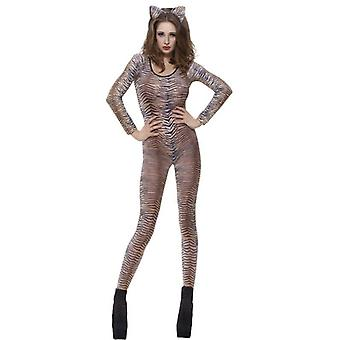 Smiffy's Tiger Print Bodysuit