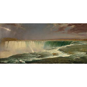 Niagara Falls,Frederic Edwin Church,80x40cm