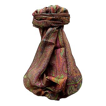 Mulberry Silk Traditional Long Scarf Chadar Chestnut by Pashmina & Silk