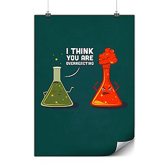 Cartaz fosco ou brilhante com engraçado de laboratório de química | Wellcoda | * y3551