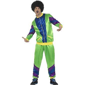 80 ' s výška módního kostýmu kostým, sameček, zelený, se bundou & kalhoty