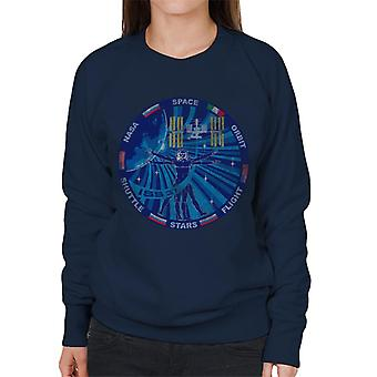NASA ISS Expedition 37 Mission Badge Distressed Women's Sweatshirt