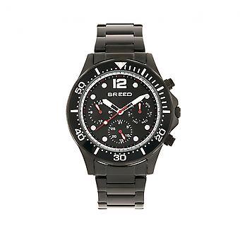 Breed Pegasus Bracelet Watch w/Day/Date- Black