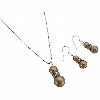 Delikatesse Designer Swarovski lyse guld brugerdefinerede bryllup smykker