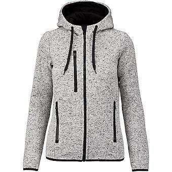 Proact Womens/Ladies Heather Hooded Jacket
