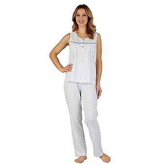 Algodão Jersey pijama pijama conjunto Slenderella PJ3113 feminino
