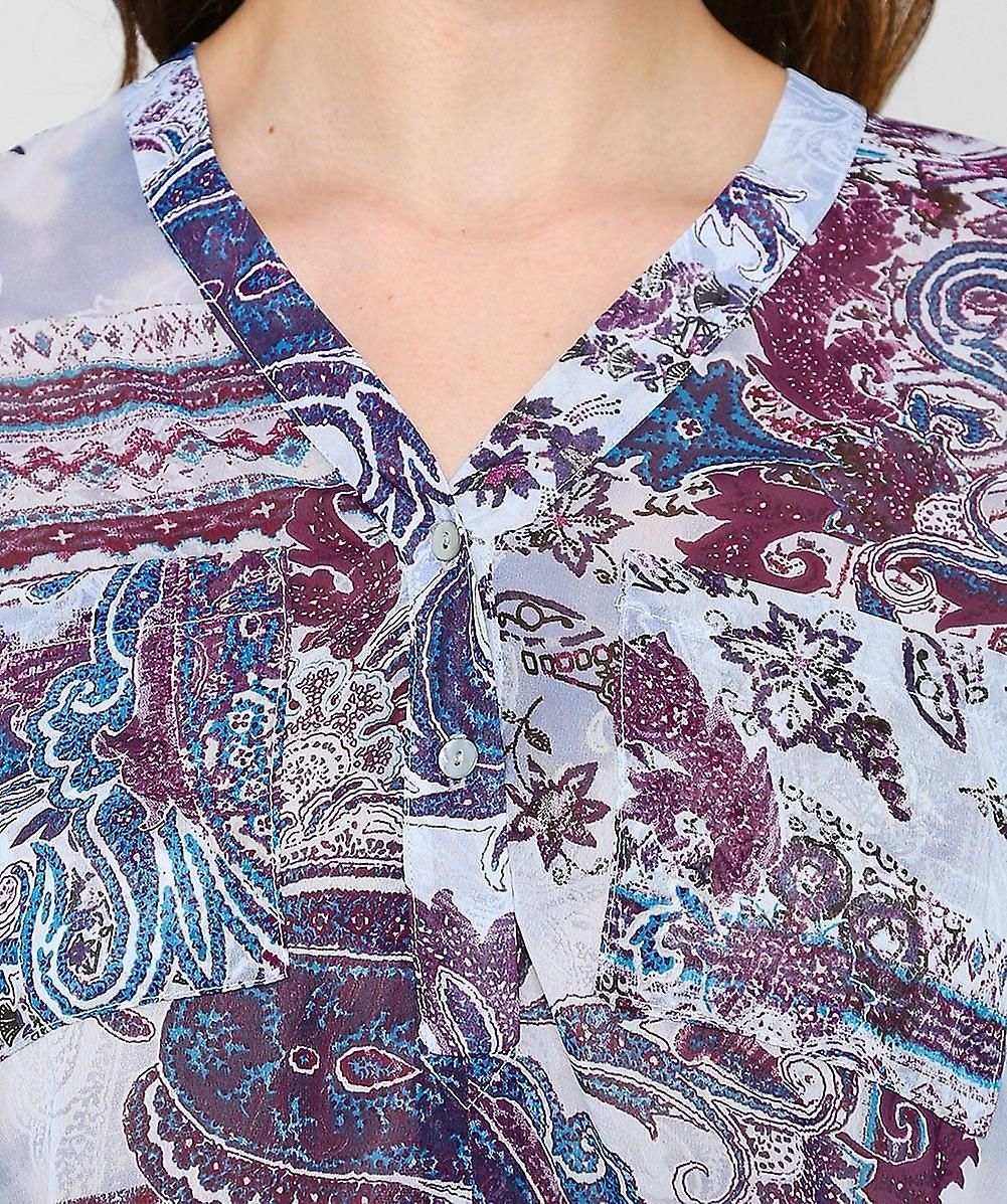 Ilse Jacobsen chiffong Paisley tröja klänning
