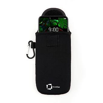 LG G8 ThinQ 2019のためのインベントケースネオプレン保護ポーチケース - ブラック