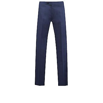 Doball Mens Twilight blauwe Tuxedo broek Fit Regular satijn zijde Stripe