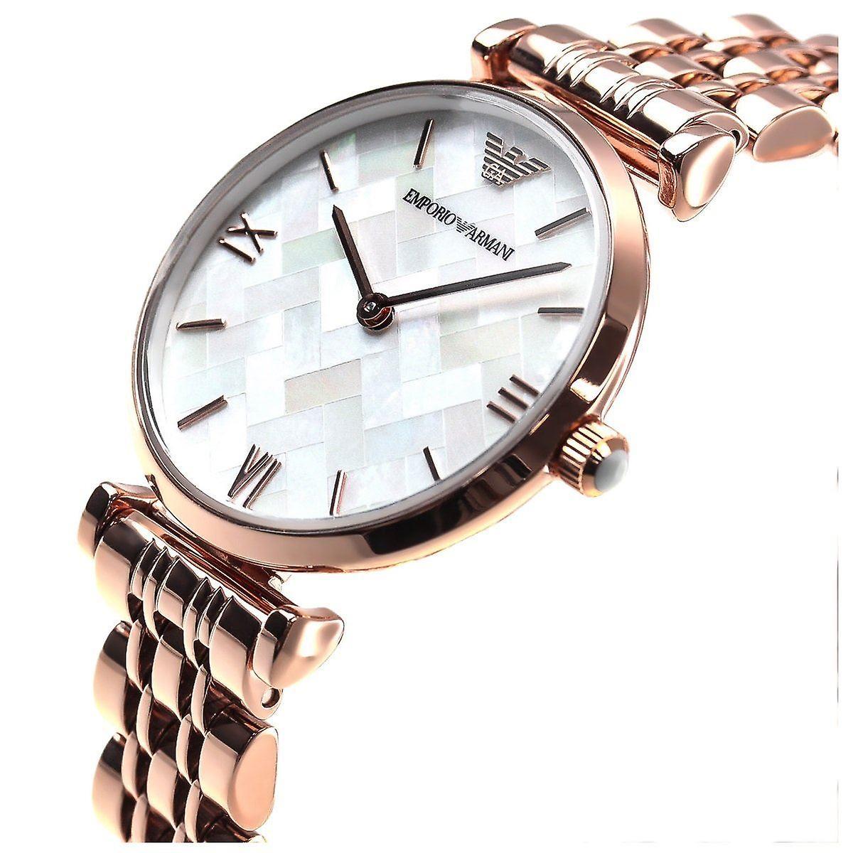 Emporio Armani Mesdames Womens Wrist Watch acier inoxydable AR11110