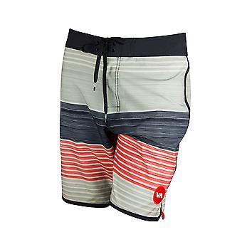 RVCA Mens VA Sport dimanche Stripe tronc Boardshorts - argent gris/noir