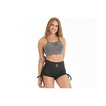 GymHero Short Tie Up Black TIEUPBLK Womens shorts