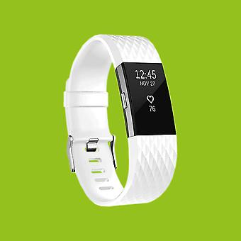 For Fitbit batch 2 plastic / silicone bracelet for women / size S White Watch