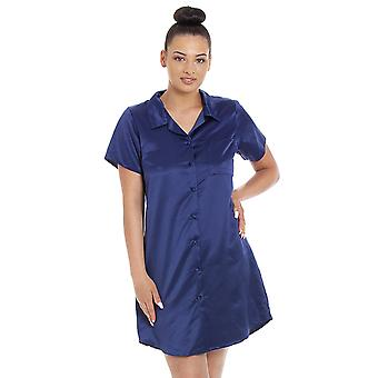 Camille Camille Womens Luxury Plain Satin Nightshirts