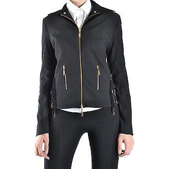 Balizza Ezbc206015 Damen's Schwarz Leder Outerwear Jacke
