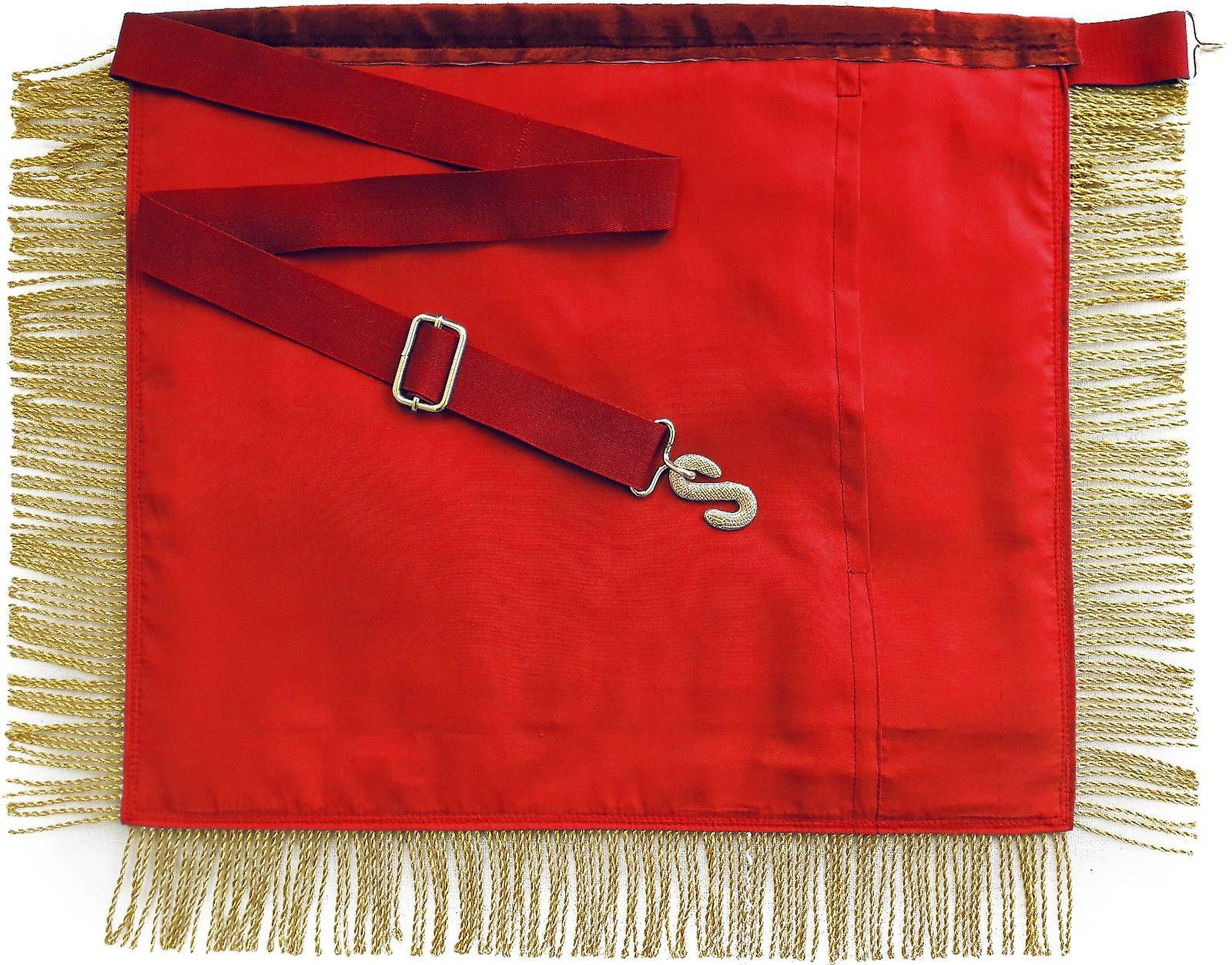 Masonic Royal Arch Past High Priest Apron PHP with Fringe Hand Embroidered