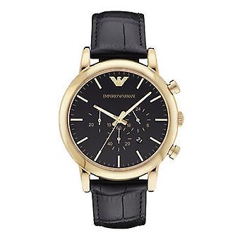 Emporio Armani Ar1917 mænds Watch analog kvarts læder sort