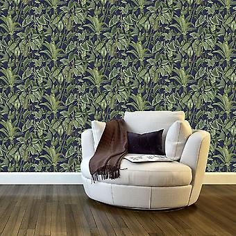 Paradiso Tropical Leaves Pattern Wallpaper Jungle Leaf Forest Non Woven Vinyl