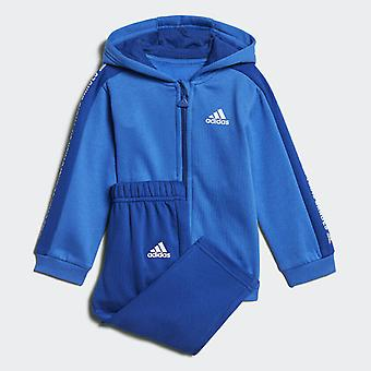 Adidas Infant Linear Hooded Fleece Tracksuit Boys  DJ1545