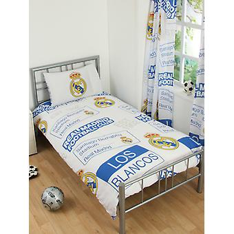 Real Madrid CF Patch Duvet Cover and Pillowcase Set