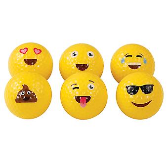 Masters Emoticon Faces Golf Balls Pack of 6