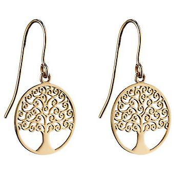 Elements Gold Tree Of Life Earrings - Gold