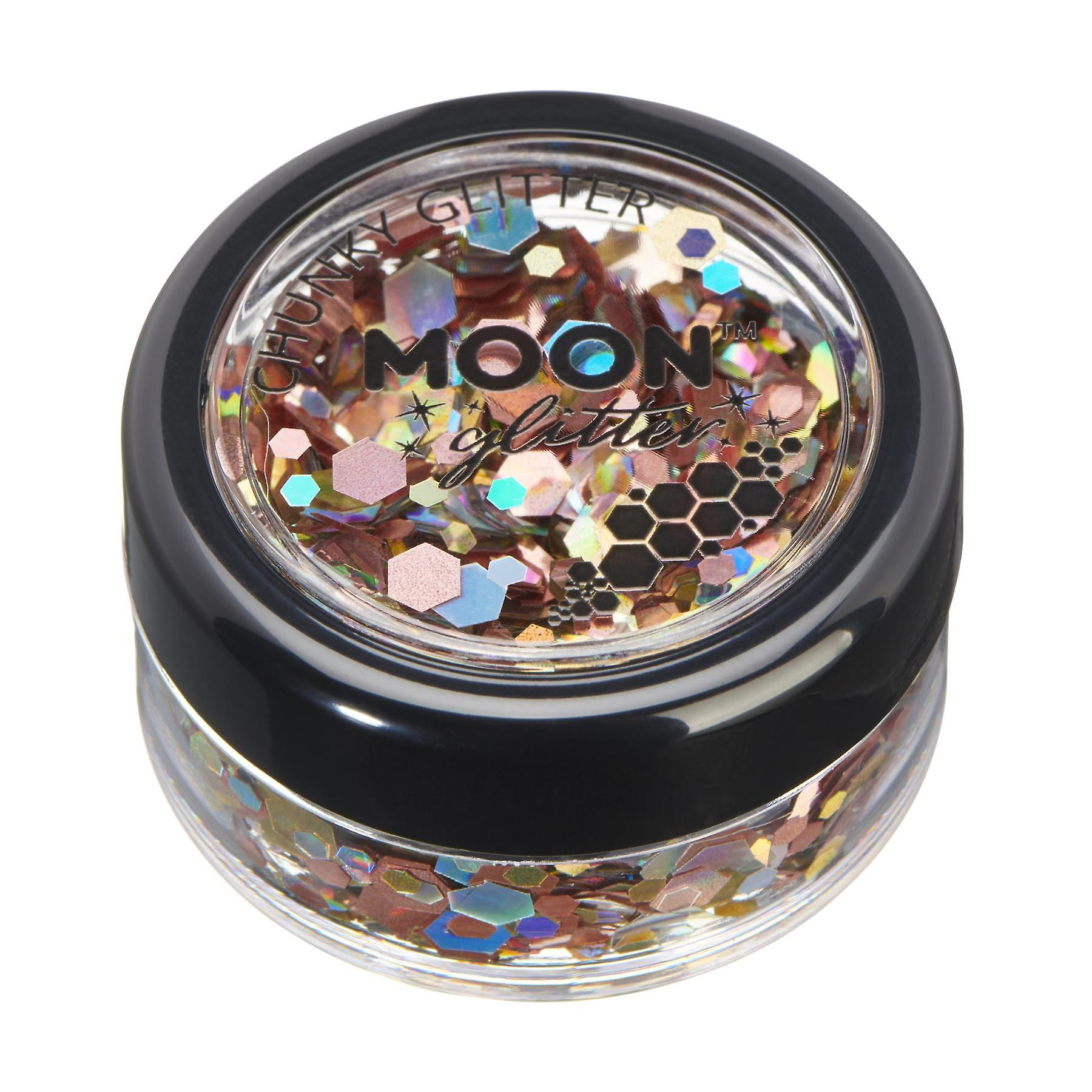 Mystic Chunky Glitter by Moon Glitter – 100% Cosmetic Glitter for Face, Body, Nails, Hair and Lips - 3g - Prosecco