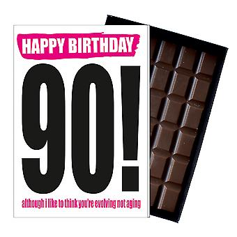 Funny 90th Birthday Gift Rude Naughty Present for Him or Her 85g Chocolate Card IYF120