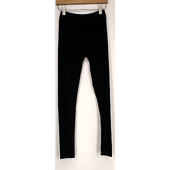 Kate & Mallory Leggings Slim Leg Pull On Elastic Waist Black Womens A428690