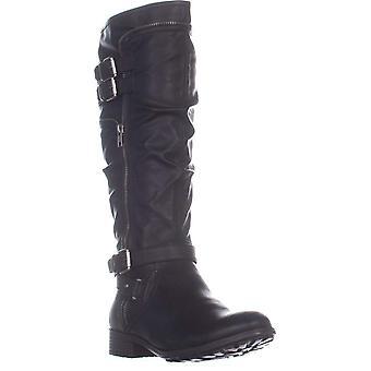 White Mountain Womens Remi Leather Closed Toe Mid-Calf Fashion Boots