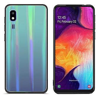 Back Cover Aurora Glass for Samsung A2 Core Blue