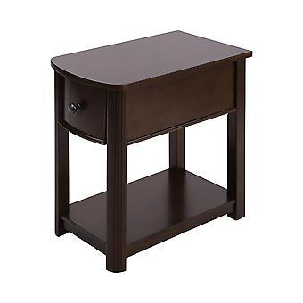 Dark cherry, bronze hardware reaburn accent table stein world